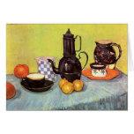 Blue Enamel Coffeepot, Earthenware - van Gogh Note Card