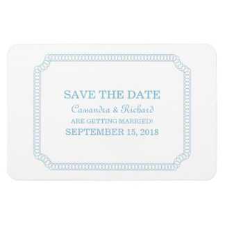 Blue Encircled Ticket Save the Date Magnet