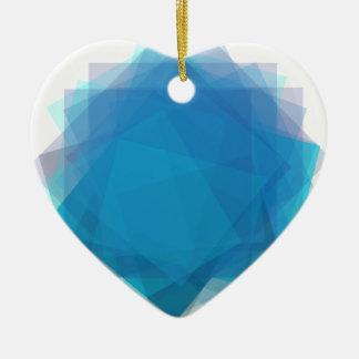 Blue Energy Ceramic Heart Decoration
