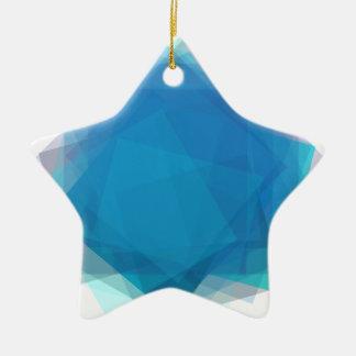 Blue Energy Ceramic Star Decoration