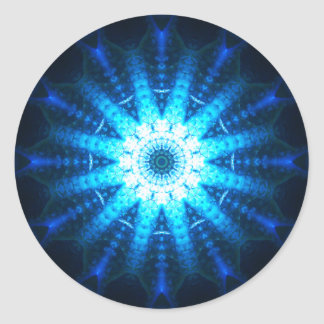 Blue Energy Core Classic Round Sticker