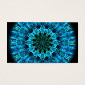 Blue Energy Kaleidoscope Business Card