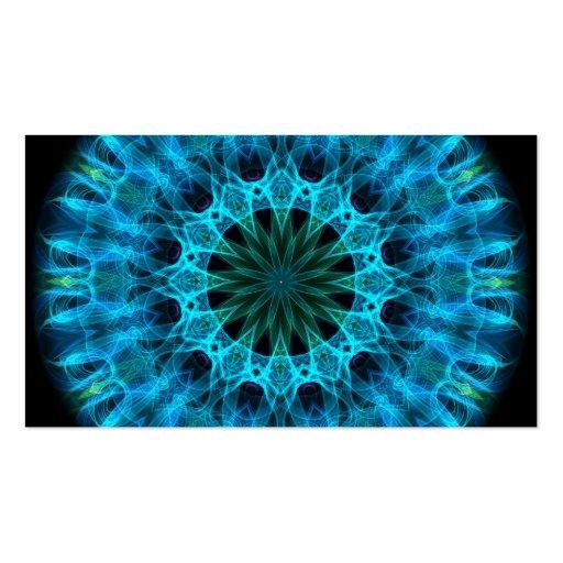 Blue Energy Kaleidoscope Business Cards