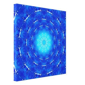 Blue Energy Portal Canvas Print