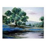 Blue English meadow flowers Postcard