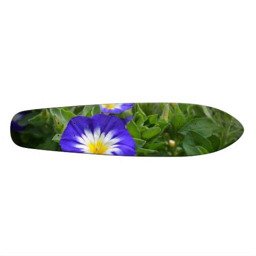 Blue Ensign Morning Glory Flowers Custom Skate Board