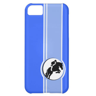 Blue Equestrian Case For iPhone 5C