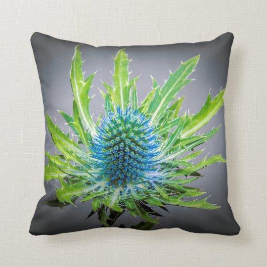 Blue Eryngium cushion