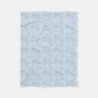 Blue Etched Floral Blanket