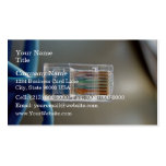 Blue Ethernet CAT5 Cable Business Card Template