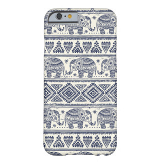 Blue Ethnic Elephant Pattern Barely There iPhone 6 Case