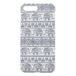 Blue Ethnic Elephant Pattern iPhone 7 Plus Case