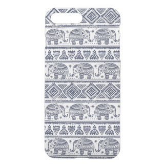 Blue Ethnic Elephant Pattern iPhone 8 Plus/7 Plus Case