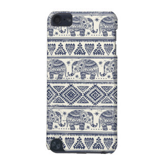 Blue Ethnic Elephant Pattern iPod Touch 5G Cover