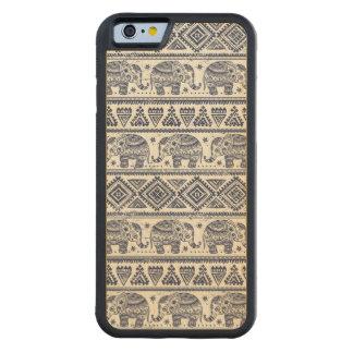 Blue Ethnic Elephant Pattern Maple iPhone 6 Bumper