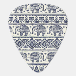 Blue Ethnic Elephant Pattern Plectrum