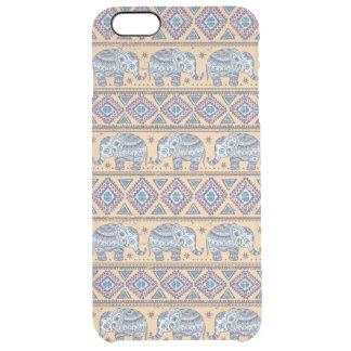 Blue Ethnic Elephant Tribal Pattern Clear iPhone 6 Plus Case