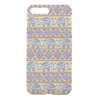 Blue Ethnic Elephant Tribal Pattern iPhone 8 Plus/7 Plus Case