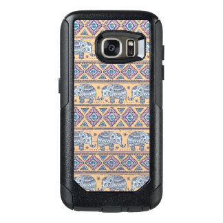 Blue Ethnic Elephant Tribal Pattern OtterBox Samsung Galaxy S7 Case