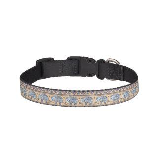 Blue Ethnic Elephant Tribal Pattern Pet Collar