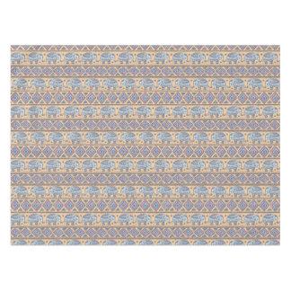 Blue Ethnic Elephant Tribal Pattern Tablecloth
