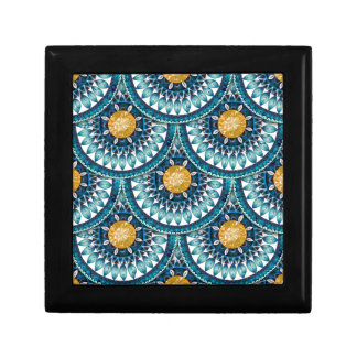 Blue Ethnic Small Square Gift Box