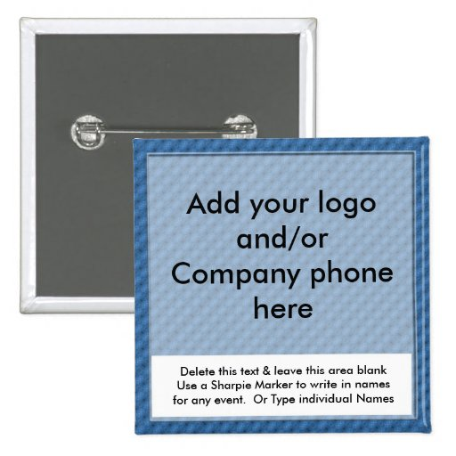 Blue Event Business Name Badges Tags Pins