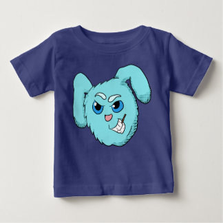 Blue Evil Bunny Head Shirt