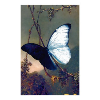 Blue Exotic butterfly painting Customized Stationery