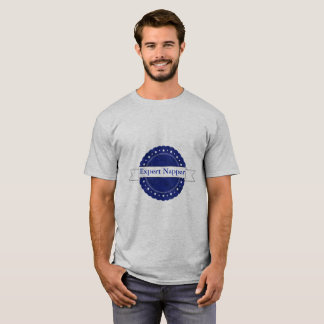 Blue Expert Napper Badge T-Shirt
