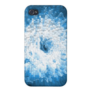 Blue explosion iphone4 case cover for iPhone 4