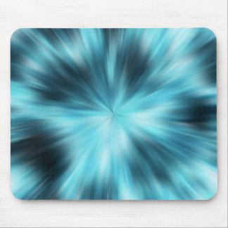 blue explosion mouse mat