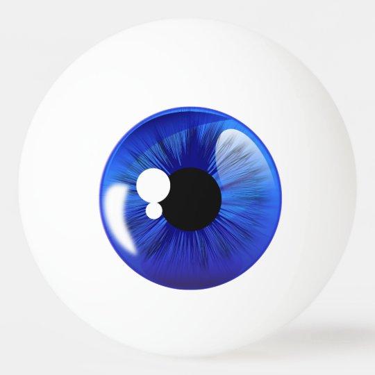 Blue Eye Ball Iris Funny Novelty Ping Pong