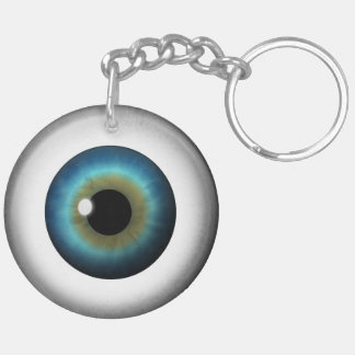 Blue Eye Eyeball Round Two Sided Acrylic Keychain