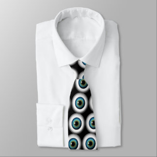 Blue Eye Eyeballs Cool Custom NeckTies Black Tie