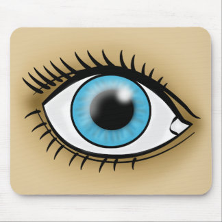 Blue Eye icon Mouse Pad