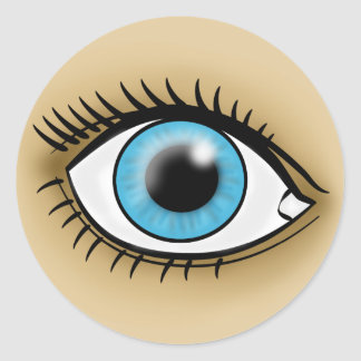 Blue Eye icon Round Sticker