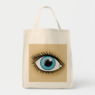 Blue Eye icon Tote Bag