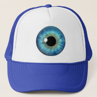 Blue Eye Iris Cool Eyeball Fun Custom Hats