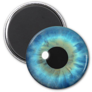 Blue Eye Iris Eyeball Cool Custom Round Magnet
