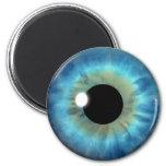 Blue Eye Iris Eyeball Cool Custom Round Magnets