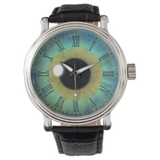 Blue Eye Iris Eyeball Cool Custom Wrist Watches