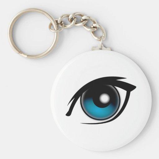 Blue Eye Key Chain