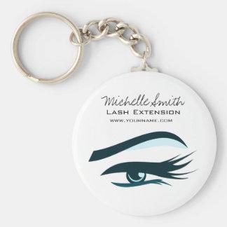 Blue Eye long eyelashes Lash extension  icon Basic Round Button Key Ring