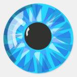 Blue Eye Round Stickers