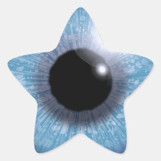 blue eye, star sticker