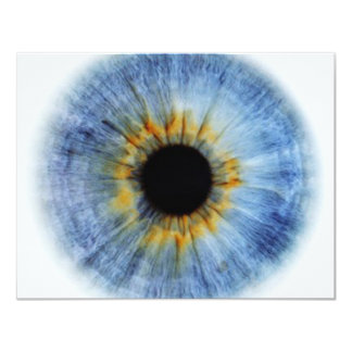 "Blue Eyeball 4.25"" X 5.5"" Invitation Card"
