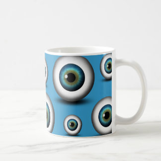 Blue Eyeball Iris Eye Fun Cool Custom Mug