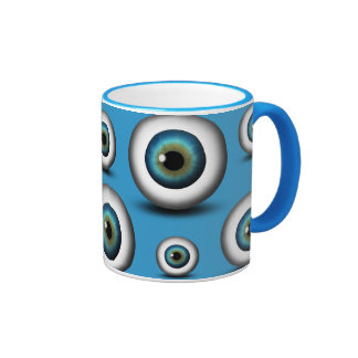 Blue Eyeball Iris Eye Fun Cool Custom Mug