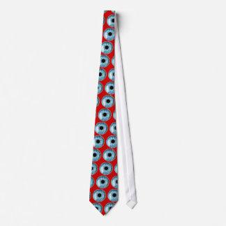 Blue eyeball neck tie